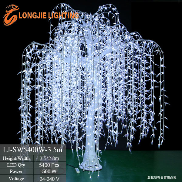 Wonderful Outdoor Waterproof Artificial LED Weeping Willow Tree Lighting LED White  Lighted Willow Tree Lights For Garden