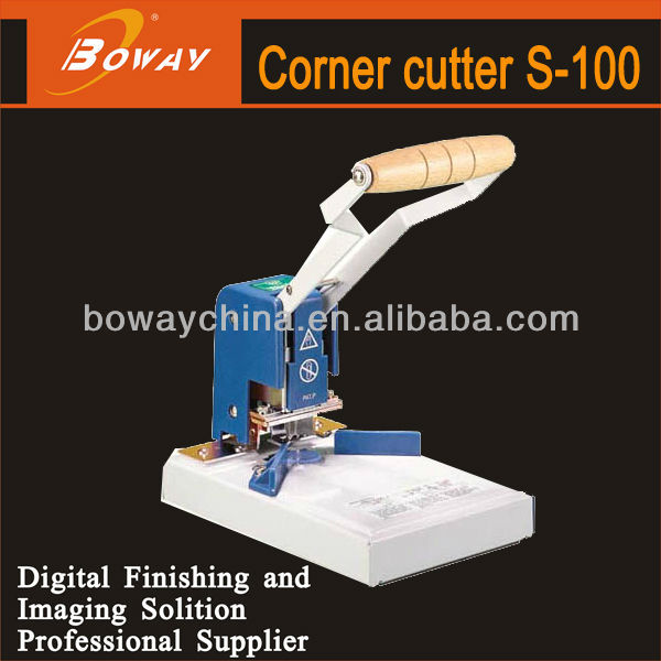 Boway service S-100 manual round corner cutting machine