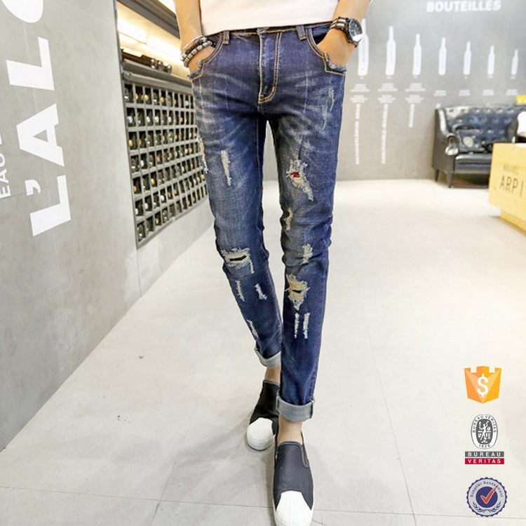 2017 new design oem service wholesale men clothing skinny jeans