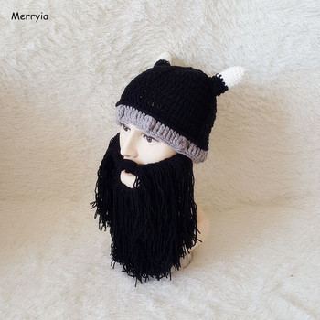 Merryia Factory Oem Handmade Crochet Viking Beard Hat Buy Knitted