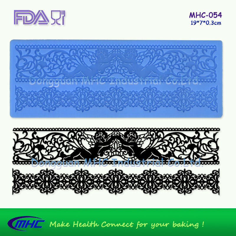 100% food grade <strong>silicone</strong> ,cake decorating supplies edible <strong>silicone</strong> veil mat MHC-054