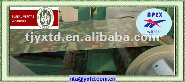 forest camouflage pattern prepainted galvanized coils