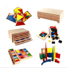Kid Wooden teaching toy montessori material from China factory