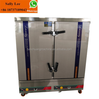 Rice Steamer/ 12 Trays Gas Rice Steaming Cart/ 50kg Rice Steaming Cabinet