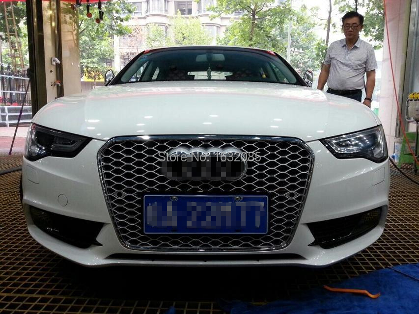limited edition silver grille for a5 rs5 front bumper mesh grill 2013up in racing grills from. Black Bedroom Furniture Sets. Home Design Ideas