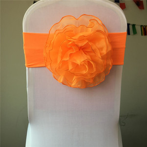 Marious organza chair sash for chair tie backs chair flower wedding party decoration