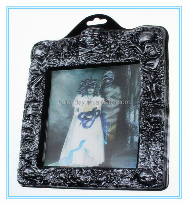 Cheap PVC 3d picture photo funny frames in bulk for halloween