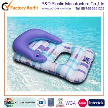 Pvc folding water beach inflatable chaise longue modern for Chaise longue blanc pvc