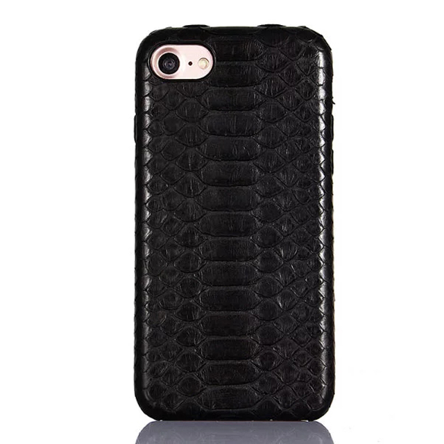 Wholesale for iPhone7  three bread snake skin phone cover various styles with customized nickel pieces logo leather phone case