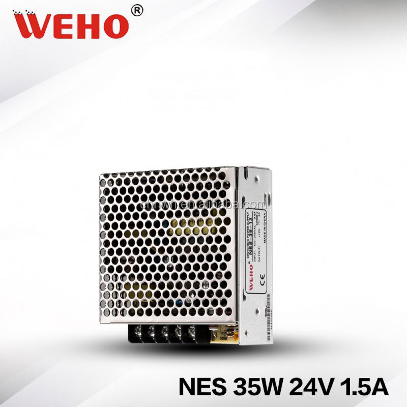 China supplier weho NES 35W single output power supply led power 24v 1.5a constant voltage