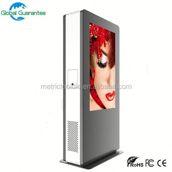 Stand alone CE ROSH IP65 high brightness 7inch outdoor lcd display with control board &tp