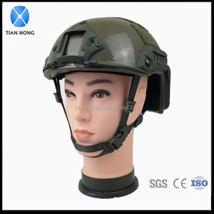 NIJ IIIA FAST Rail ACH-ARC Tactical Bulletproof Helmet Army Green