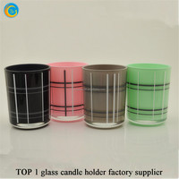 colored tealight candle holders wedding
