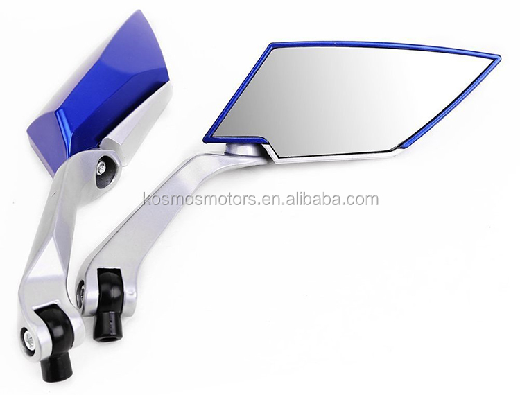 Motorcycle mirror motorbike rearview side mirror with aluminum alloy brackets