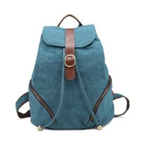 Cheap cute canvas backpack for colleage girl