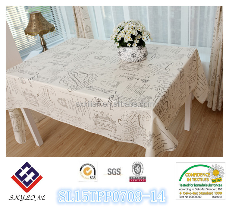 New product Polyester microfiber tablecloth Custom Overlay Tablecloths for Wedding