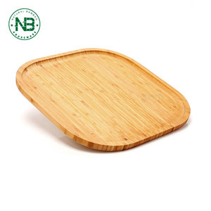 Cheap square dessert dish breakfast plate serving tray bamboo serving platter