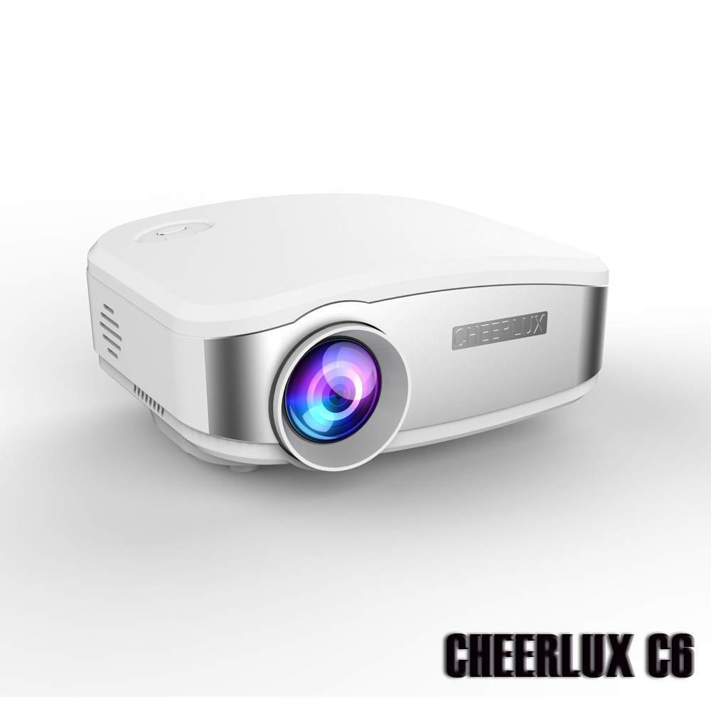 New arrival best cheerlux c6 digital mini projector led for Highest lumen pocket projector