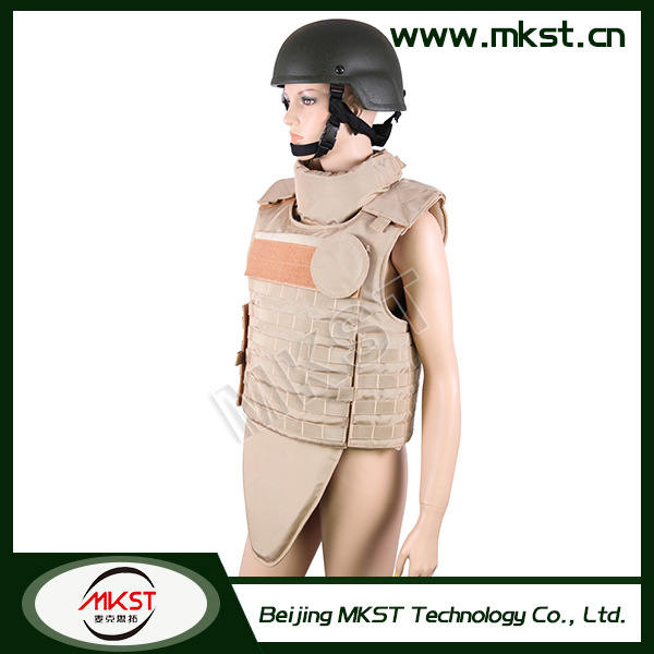 MKST648 Series Full Protection 0.46-0.54m2 Ak 47 Bullet Proof Vest
