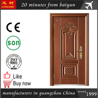 galvanized steel apartment building entry doors safety door