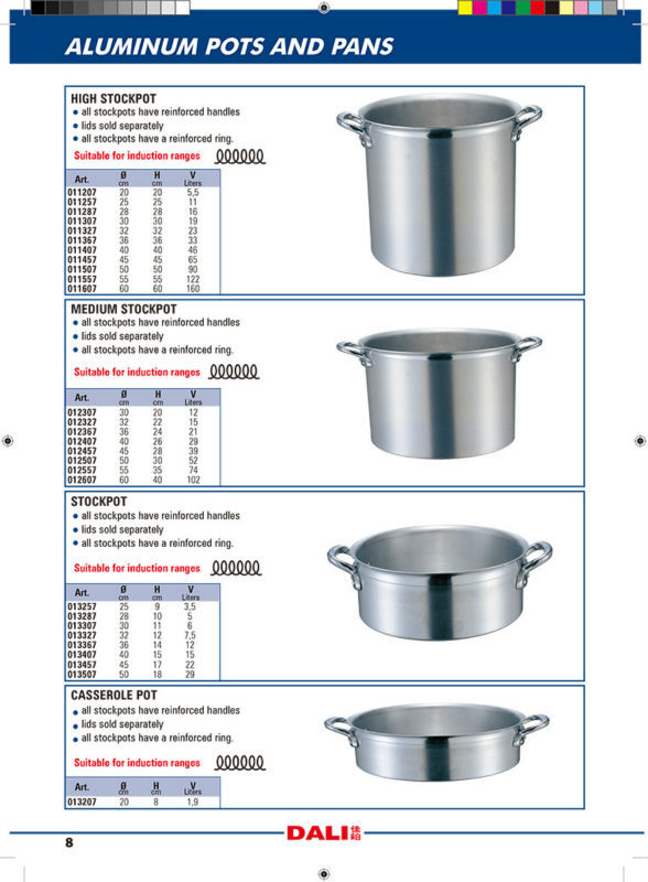 2015 Hot Sale Industrial Soup Cooking Pot And Pans Sets