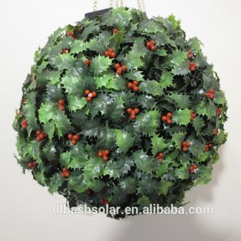 Christmas Topiary Balls.Solar Powered Topiary Ball Light 20 Led Solar Powered Led Ball Light Outdoor Buy Decoration Garden Balls Light With Solar Wireless Led Ball
