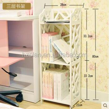 High Quality Newest PVC Three Shelves Bookshelf