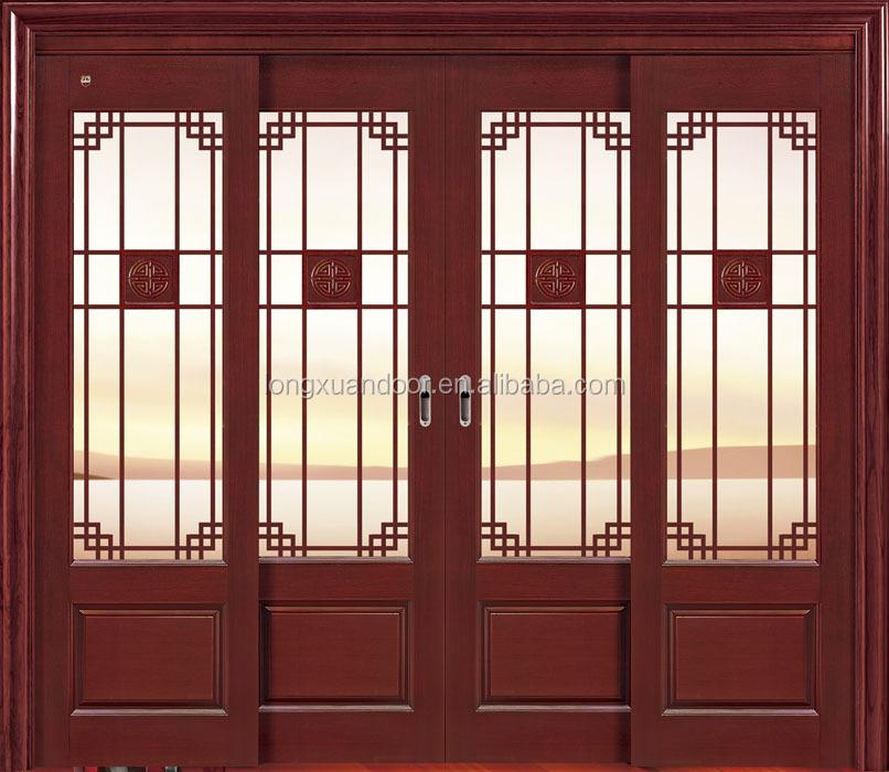columpio de madera puertas de correderas de batientes de cristal