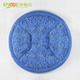 Custom OEM wet and dry household round cleaning microfiber mop pads for floor cleaning
