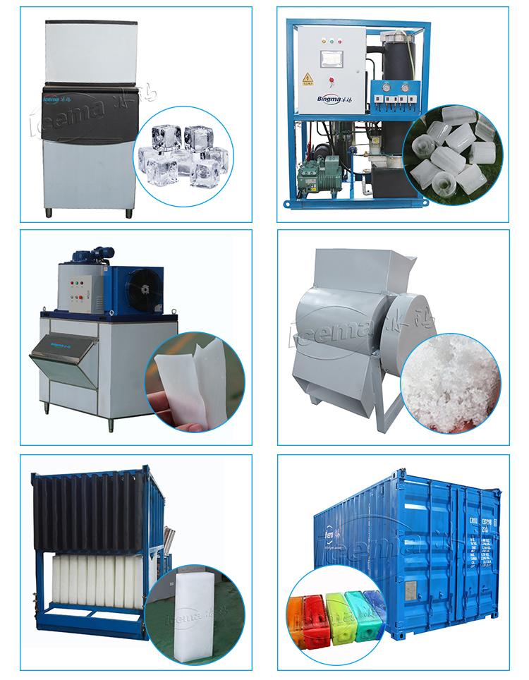 China fabrikant Industriële hoge productie blok Ijs Maken Plant/vlok Machine commerciële vlok ice maker