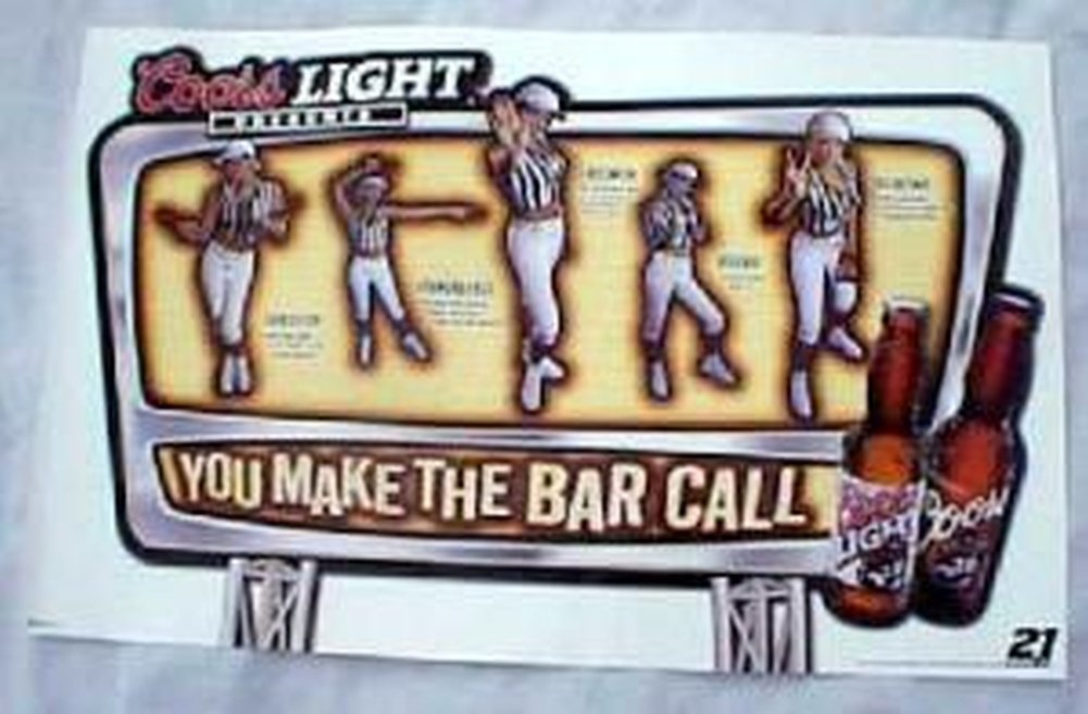 Coors Light Girl Ref 17 X 27 Poster