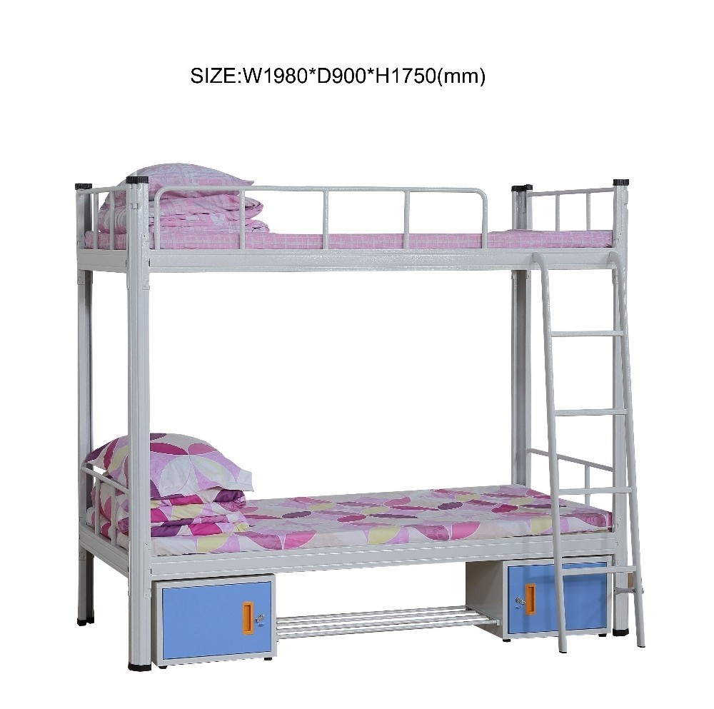 Steel double deck bed - Customized Preminium 2 Drawer Steel Double Decker Bed For Workers