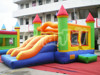 Best quality commercial inflatable double slide bounce house, inflatable bouncer slide for sale
