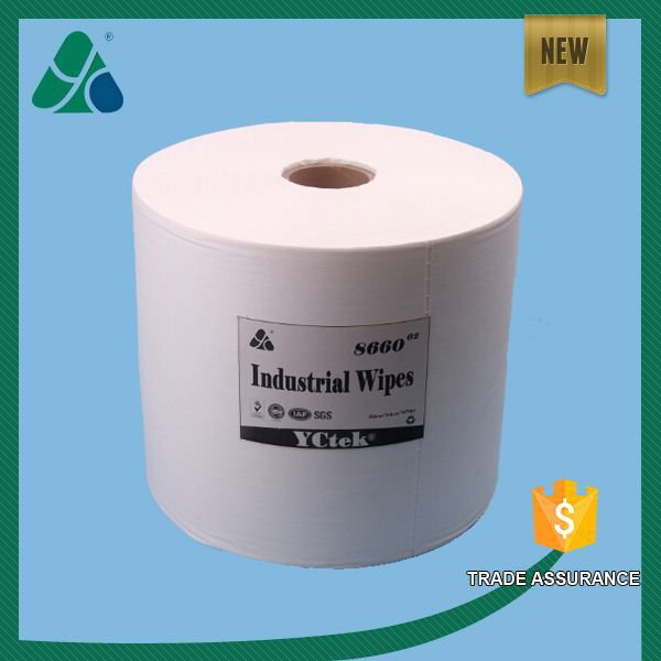 Sponbond non woven fabric strong cleaning industrial wipers