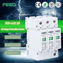 380V 40ka power supply Signal Lightning Surge Arrestor 60KA Power Surge Protector 24 Ethernet Port Surge Protection