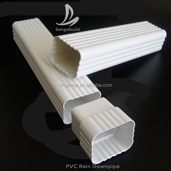 Plastic Building Material K Style Pvc Roof Rain Gutter