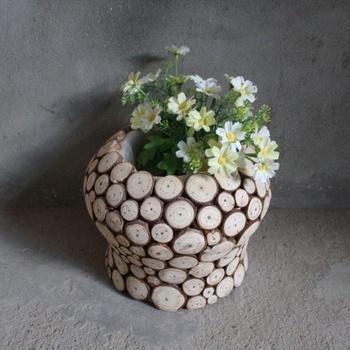 New Design Wooden Flower Pot Stands Small Wooden Planter