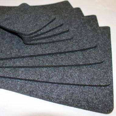 Placemats Simple Shape Rectangle Felt Table Mats Set of 6