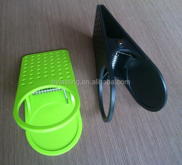 Colorful Eco-friendly Plastic cup holder clip