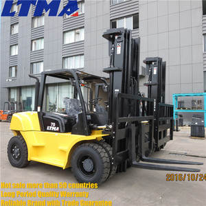 LTMA 7 ton diesel forklift specification with pneumatic tires