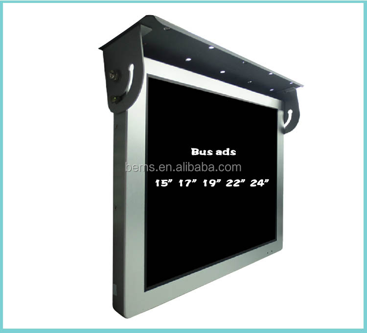 15 22 Inch Tft Lcd Flip Down Roof Mount Car Tv Bus