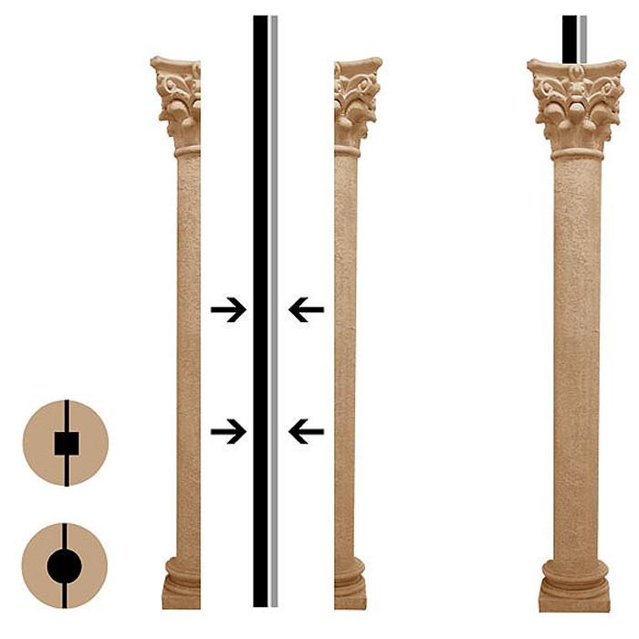 Hot Selling Hand Carved Greek Indoor Decorative Columns