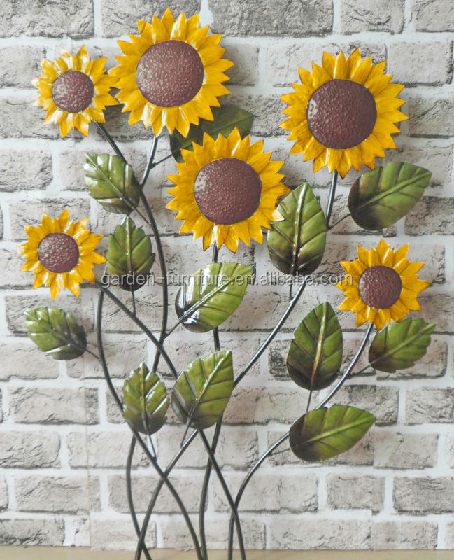 Outdoor Metal Flower Wall Art Custom Indoor Outdoor Home Decoration Metal Flower Plaque Wrought Iron Review