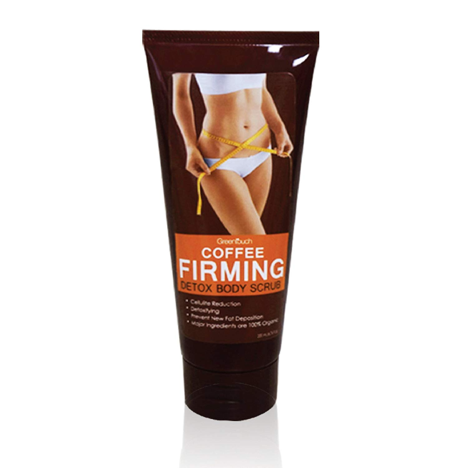 Organic Coffee Firming Detox Body Scrub for Skin Cleansing and Firming by Greentouch | Natural Skin Exfoliating & Scrubbing, Cellulite Reduction, Toning, Slimming, Tightening & Rejuvenating | Set of 1