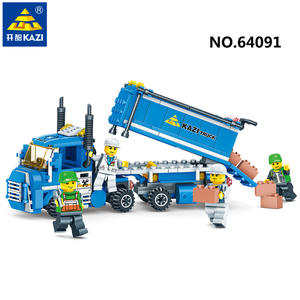 KAZI building block toys Urban Freight Series for kids educational toys