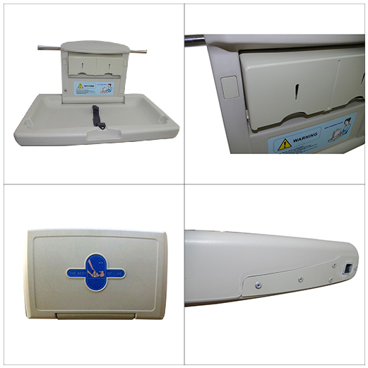 Wall mounted baby diaper changing station table nursing table for mother and baby room