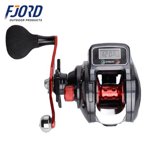 FJORD New LED line counter data display battery bait casting fishing reel