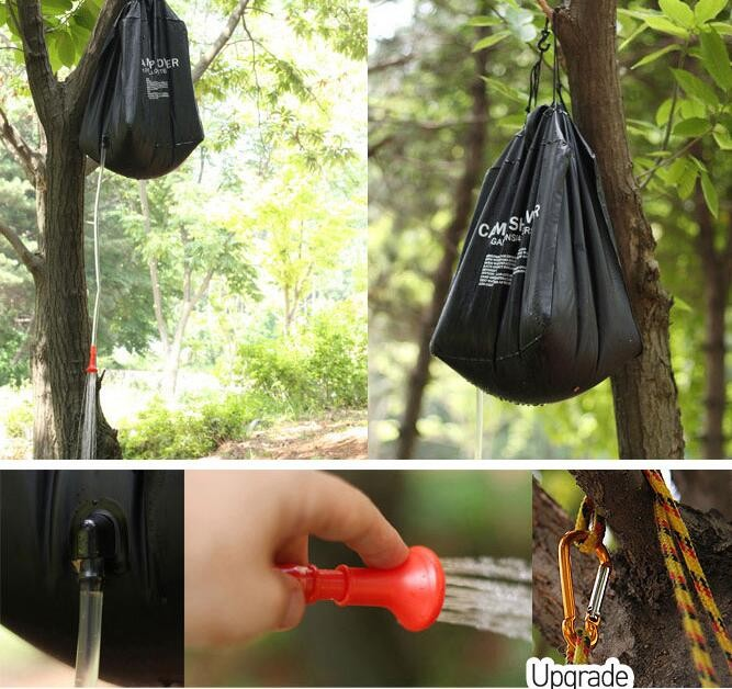 Portable Solar Heated outdoor Shower camp shower bag for traveling