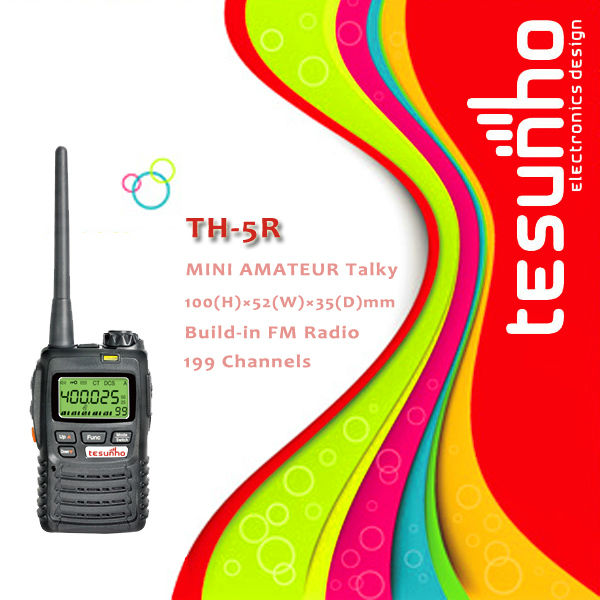 TESUNHO TH-5R 5W kids small Walkie Talkie with 50 CTCSS & 104*2 DCS