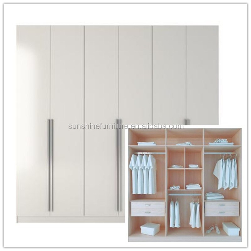 modern cheap bedroom furniture design wardrobe closet cabinet in white high gloss